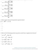 9 5 Practice A Solving Quadratic Equations By Graphing