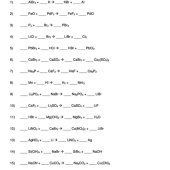 Balancing Chemical Equations Worksheet 1 17