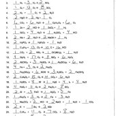 Balancing Chemical Equations Worksheet 1 20