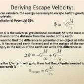 Derivation Of Escape Velocity Equation