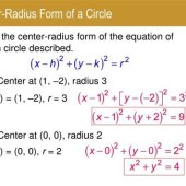 Equation Of A Circle Center Radius Form