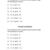 Equation Of A Straight Line Given Two Points Tes