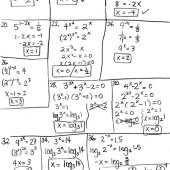 Exponential Equations Worksheet 1 Solve The Equation Answer Key