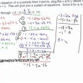 Find Quadratic Equation With 3 Points Calculator
