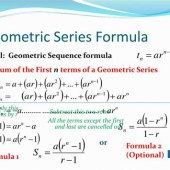 Geometric Sequence Equation Formula