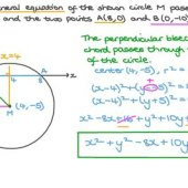 How To Calculate The Equation Of A Circle From 3 Points