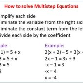 How To Do Three Step Equations