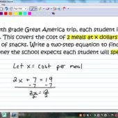 How To Do Two Step Equation Story Problems