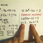 How To Factor And Solve Quadratic Equations