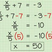 How To Solve An Algebraic Equation With Fractions
