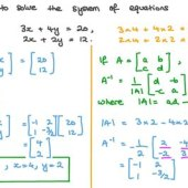 How To Solve Simultaneous Equations Using Matrix Method