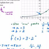 How To Write An Equation From Exponential Graph