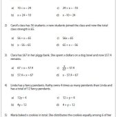 One Step Equation Word Problem Example