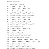 Questions On Balancing Chemical Equations For Class 7
