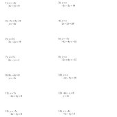 Skills Practice Solving Systems Of Equations Algebraically