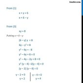 Solve Equations For X Y Z