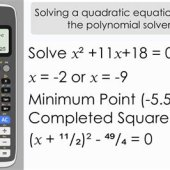 Solve Quadratic Equation Using Graphing Calculator