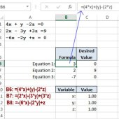 Solving 3 Simultaneous Equations In Excel