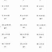 Solving Equations Fun Worksheet
