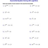 Solving Exponential Equations Without Calculator Worksheet