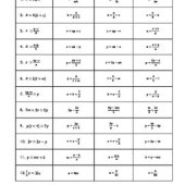 Solving Literal Equations Partner Activity Worksheet