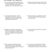 Solving One And Two Step Equations Word Problems