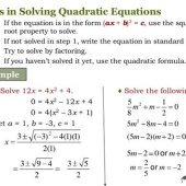 What Are The Steps To Solving A Quadratic Equation By Factoring