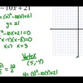 Write A Quadratic Equation In Standard Form For Each Graph