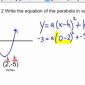 Write Equations Of Parabolas In Vertex Form From Graphs