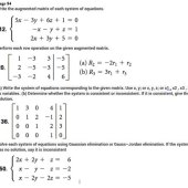 Write The System Of Equations Corresponding To Augmented Matrix Calculator