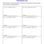 Writing Equations Of Parallel And Perpendicular Lines Worksheet Geometry